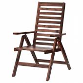 ЭПЛАРО Садовое кресло/регулируемая спинка,складной коричневая морилка