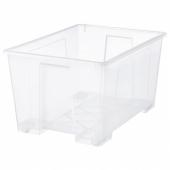 САМЛА Контейнер, прозрачный, 78x56x43 см/130 л