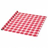 ВИНТЕР 2019 Рулон оберточной бумаги, красный, клетчатый орнамент, 3x0.7 м