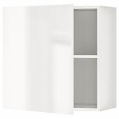 КНОКСХУЛЬТ Навесной шкаф с дверцей, глянцевый белый, 60x60 см