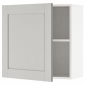 КНОКСХУЛЬТ Навесной шкаф с дверцей, серый, 60x60 см