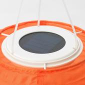 СОЛВИДЕН Подвесная светодиодная лампа, для сада, шаровидный оранжевый, 22 см