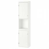 СИЛВЕРОН Шкаф высокий,2дверный,белый