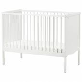 СОЛГУЛЬ Кроватка детская, белый, 60x120 см