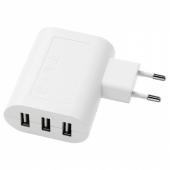 КОПЛА Зарядное устройство/3 USB-порта,белый
