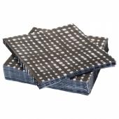 УРЛАДДА Салфетка бумажная, черный/белый, 33x33 см
