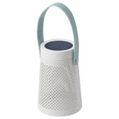 СОЛВИДЕН Настольн светодиодн лампа/солн бат, конусообразный белый, 15 см