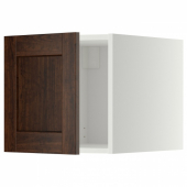 МЕТОД Верхний шкаф, белый, Эдсерум коричневый, 40x40 см