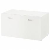 СТУВА / ФРИТИДС Скамья с отделением для игрушек, белый, белый, 90x50x50 см