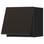 МЕТОД Горизонтальный навесной шкаф, черный, Кунгсбакка антрацит, 40x40 см