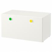 СТУВА / ФОЛЬЯ Скамья с ящиком, белый, 90x50x50 см