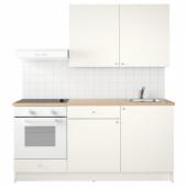 КНОКСХУЛЬТ Кухня, белый, 180x61x220 см